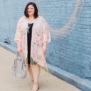 Melissa McCarthy Seven7 Fringe Kimono